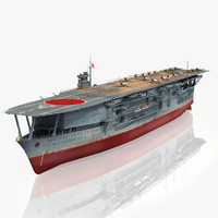 japanese aircraft carrier kaga 3d max