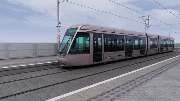 dublin city tram station 3d model