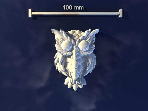 owl mold hand 3d model