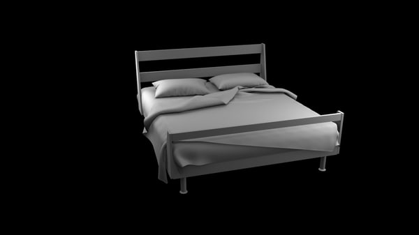 3d bed pillows model
