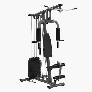 gym multi lat tower 3d max