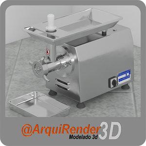 3d industrial meat grinder