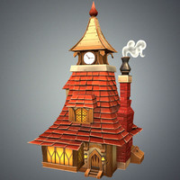 3d model stylized tavern