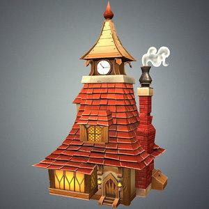 3d model stylized tavern