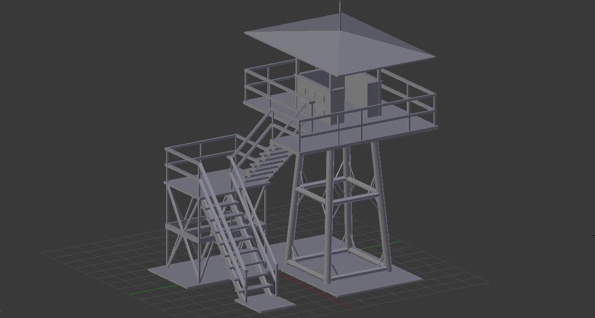 3d model watchtower