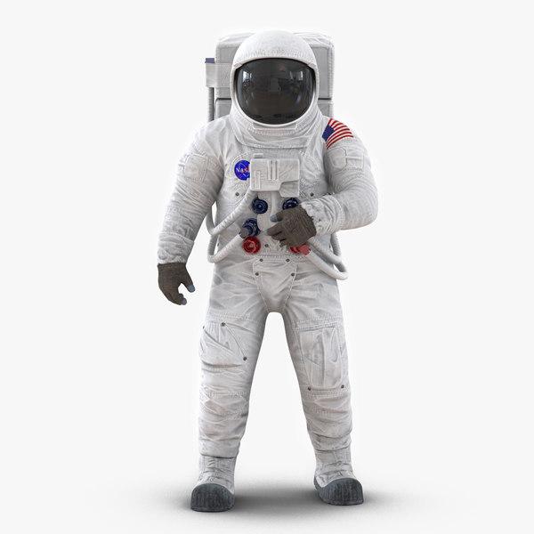 3ds astronaut nasa wearing spacesuit