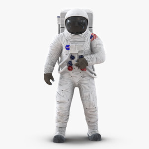 3ds astronaut nasa wearing spacesuit