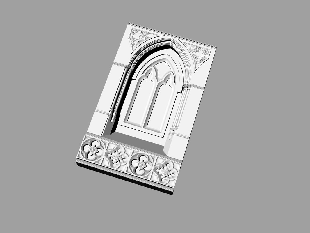 3d model columns arches ancient