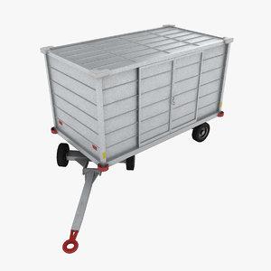 denge 290s baggage cart 3d max