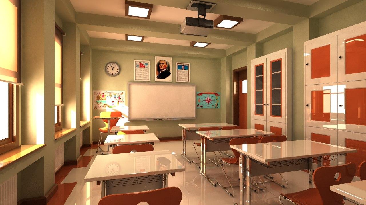 3d max classroom elementary school