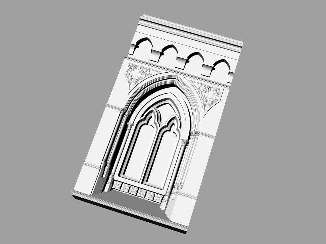 columns arches ancient obj