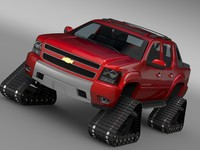 3d chevrolet avalanche z71 crawler model