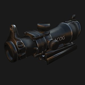 optical sight acog 3d max