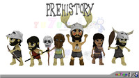 LOW POLY PREHISTORY CHARACTER PACK