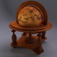 3d model globe pirate