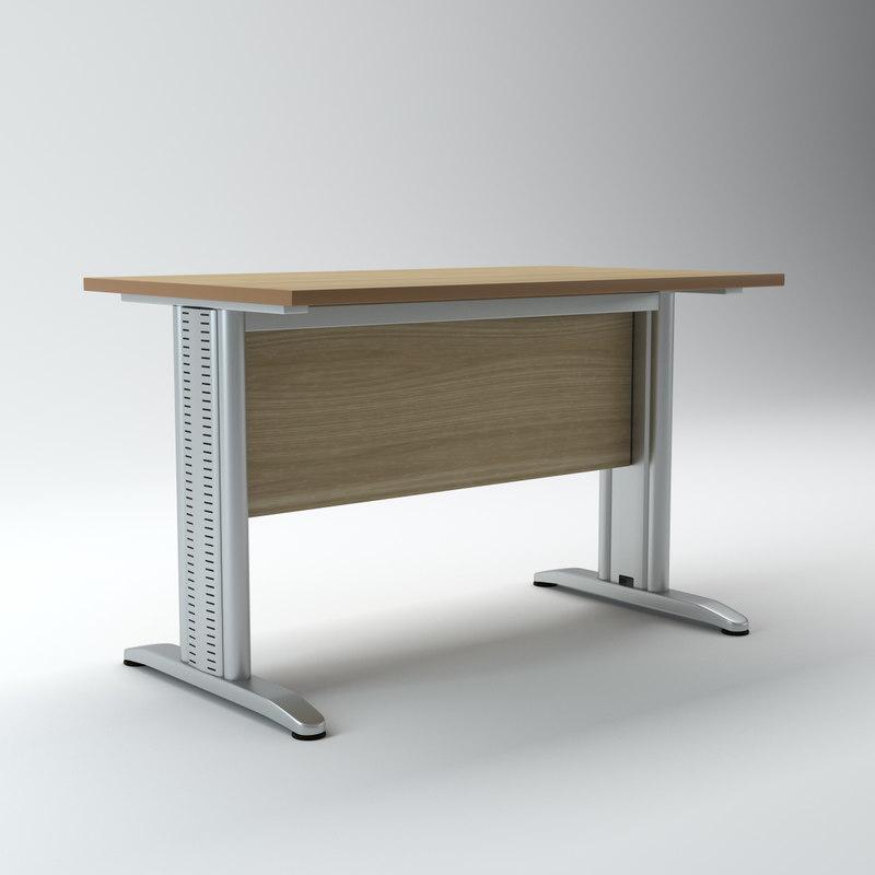 3d model modular office desk