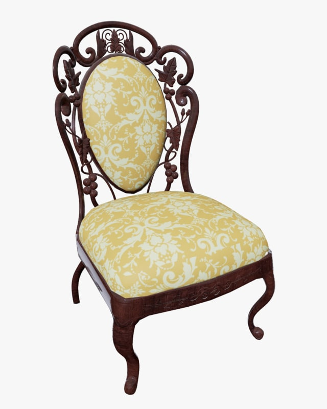 victorian dining chair obj