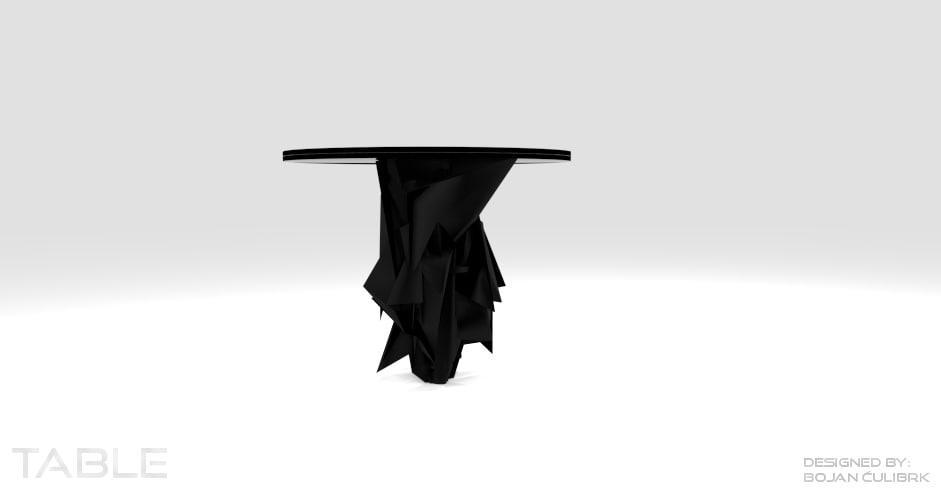 triangular table obj