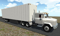 Semi tractor and trailer