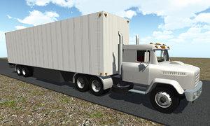 3d semi tractor trailer model