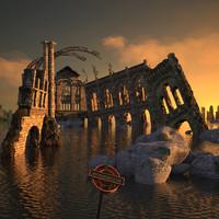 3d ruin model