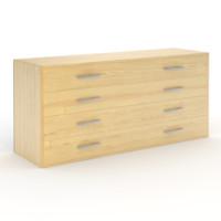 wooden commode wood 3d obj