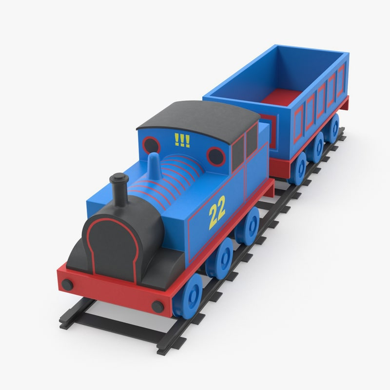 free toy train 3d model