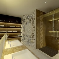 3d model scene modern bathroom