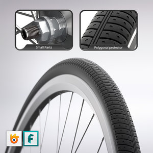wheel city bike 3d fbx