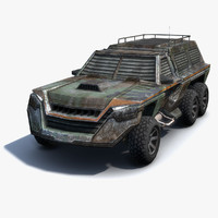 obj low-poly suv