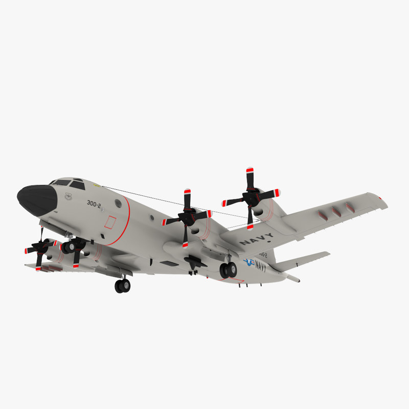 3d model of lockheed p3 orion military