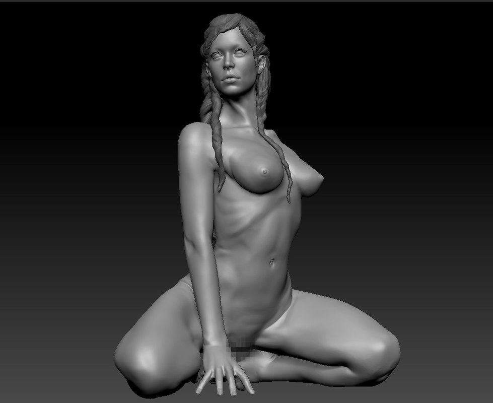 3d zbrush posed female