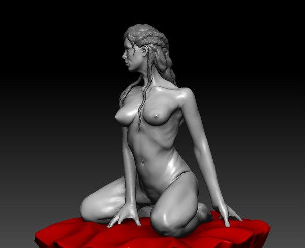 zbrush posed female 3d model