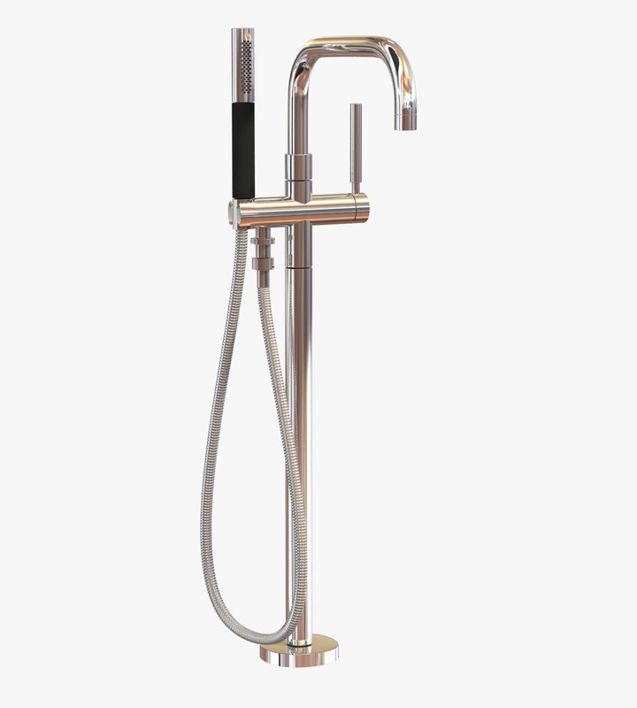 filler purist freestanding bath 3d model