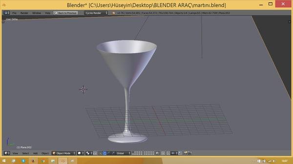 3d martini model