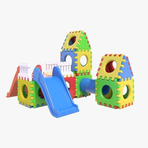 3d children playground model