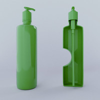 3d shampoo bottle model