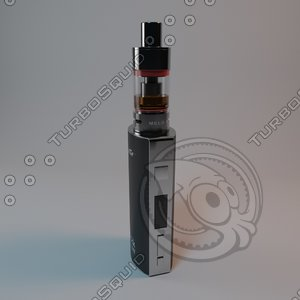3d model box mod clearomizers