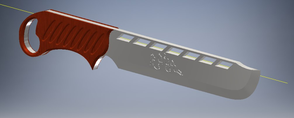 3d interesting knife model
