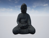 3d ready buddha statue model