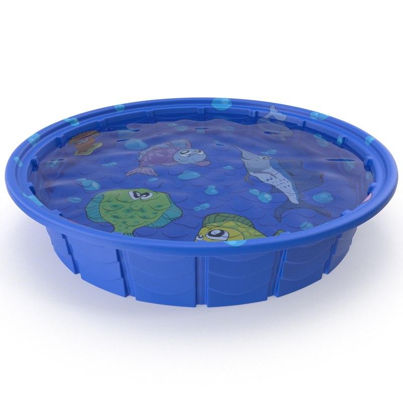 kiddie pool 3d max