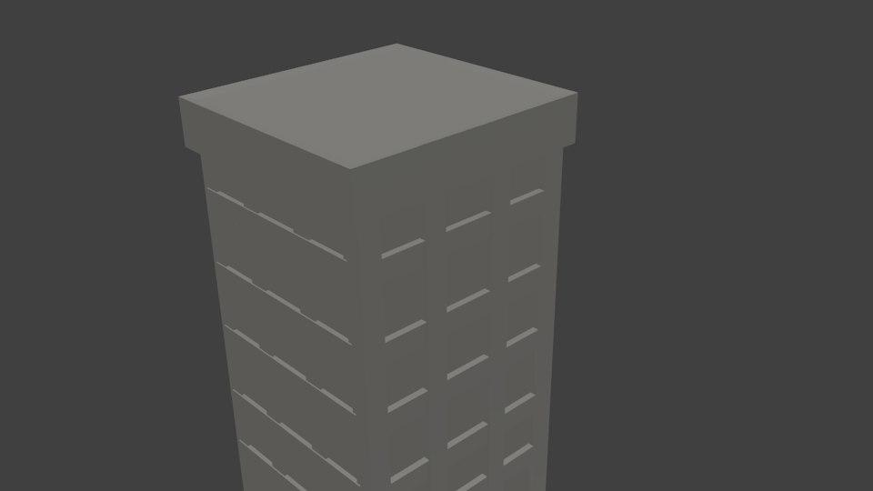 3d model simpel tower