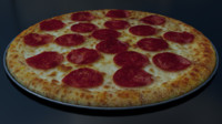 3d model pepperoni pizza