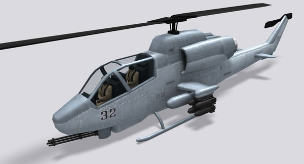 3d model ah-1 super cobra