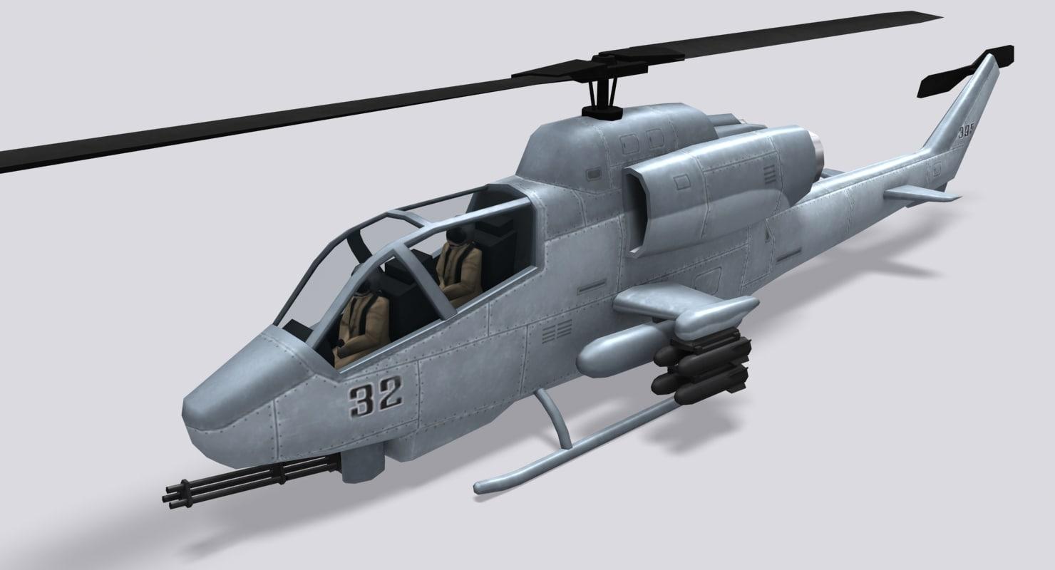 3d model ah-1 super cobra