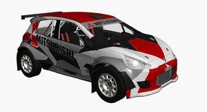 3d model mitsubishi r5 rally car