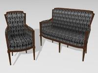 Chair & small sofa