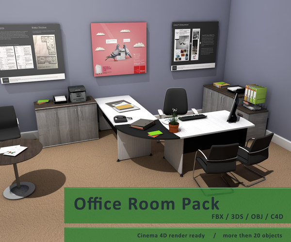 package desk chairs c4d