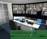surveillance room 3d model