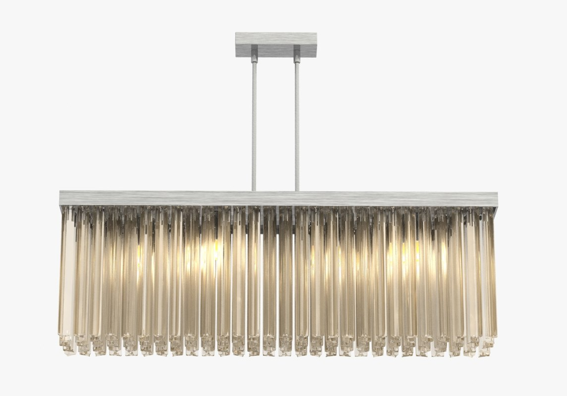 chandelier rectangular 3d model